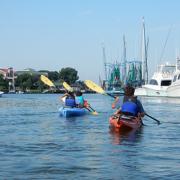 Kayaking on Shem Creek