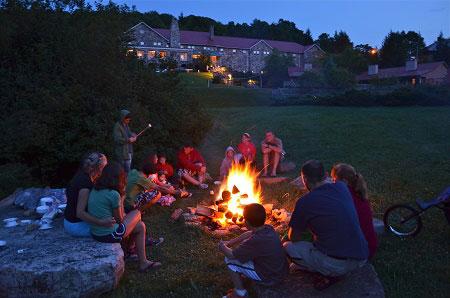 Campfire at Mountain Lake Lodge