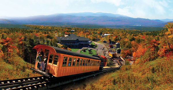 The Mt. Washington Cog Railway.