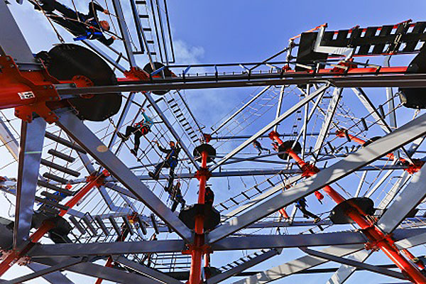 tackle the ropes course