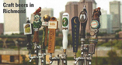 Craft beers in Richmond