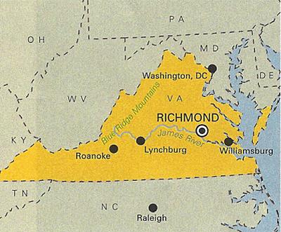 Richmond Virginia map
