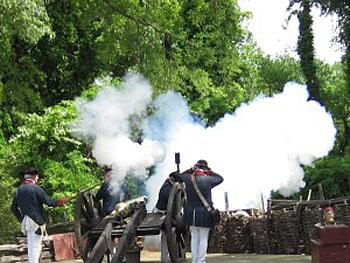Army artillery firing