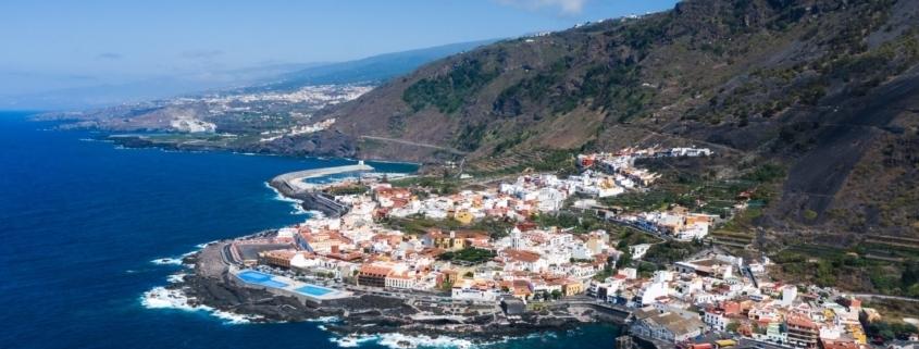 Beach in Tenerife, Canary Islands, Spain.Aerial view of Garachiko in the Canary Islands