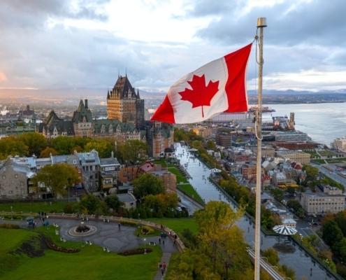 Canadian Flag in Quebec