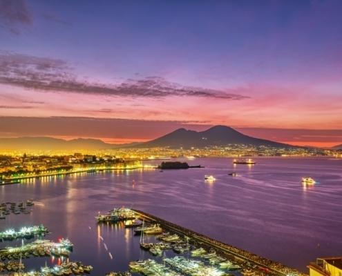 Dramatic sunrise in Naples