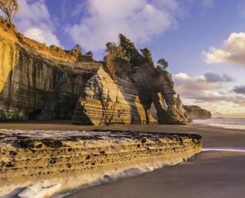 Rocky coast of Taranaki district, New Zealand