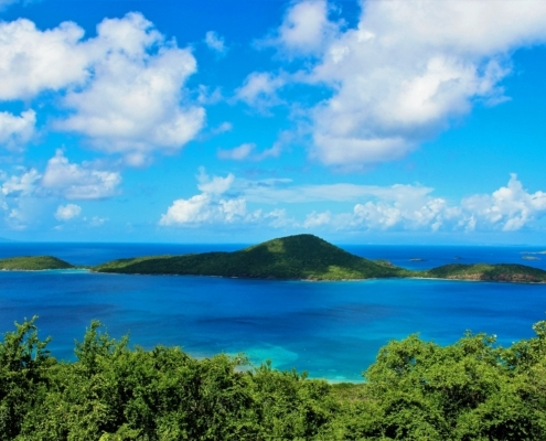 View from high point on Culebra Puerto Rico.