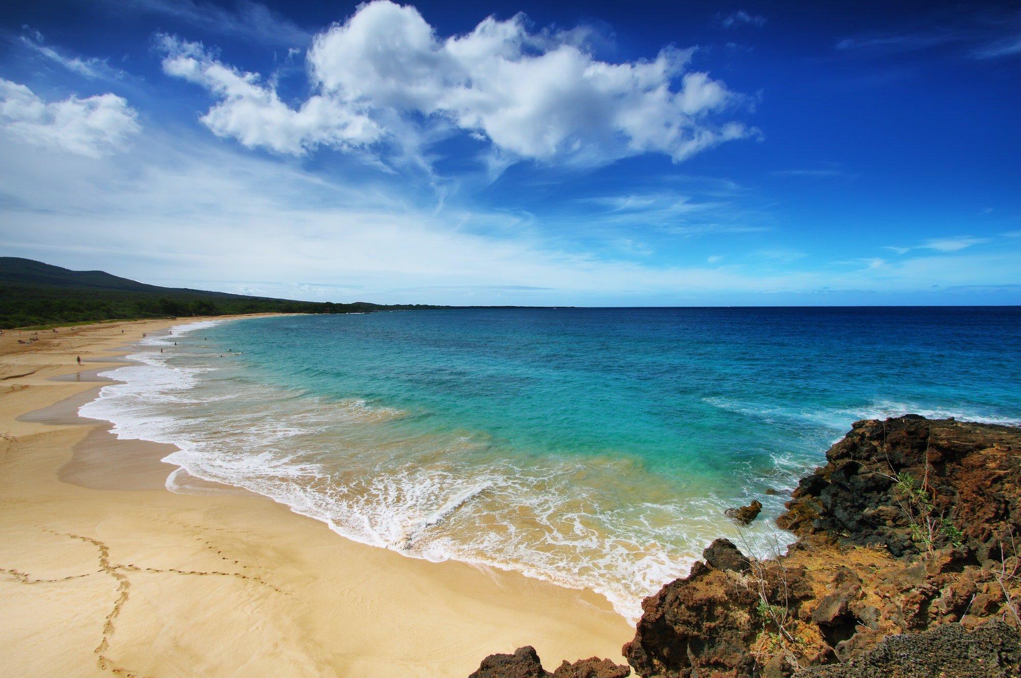 Makena Beach, in Maui, Hawaii