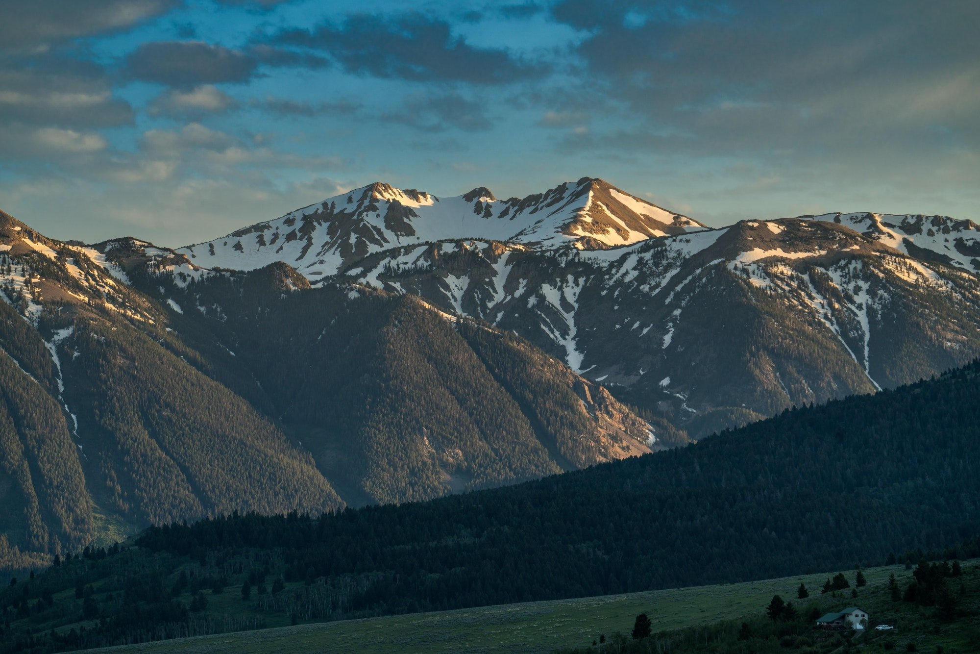 Mountains in Montana and Idaho landscape