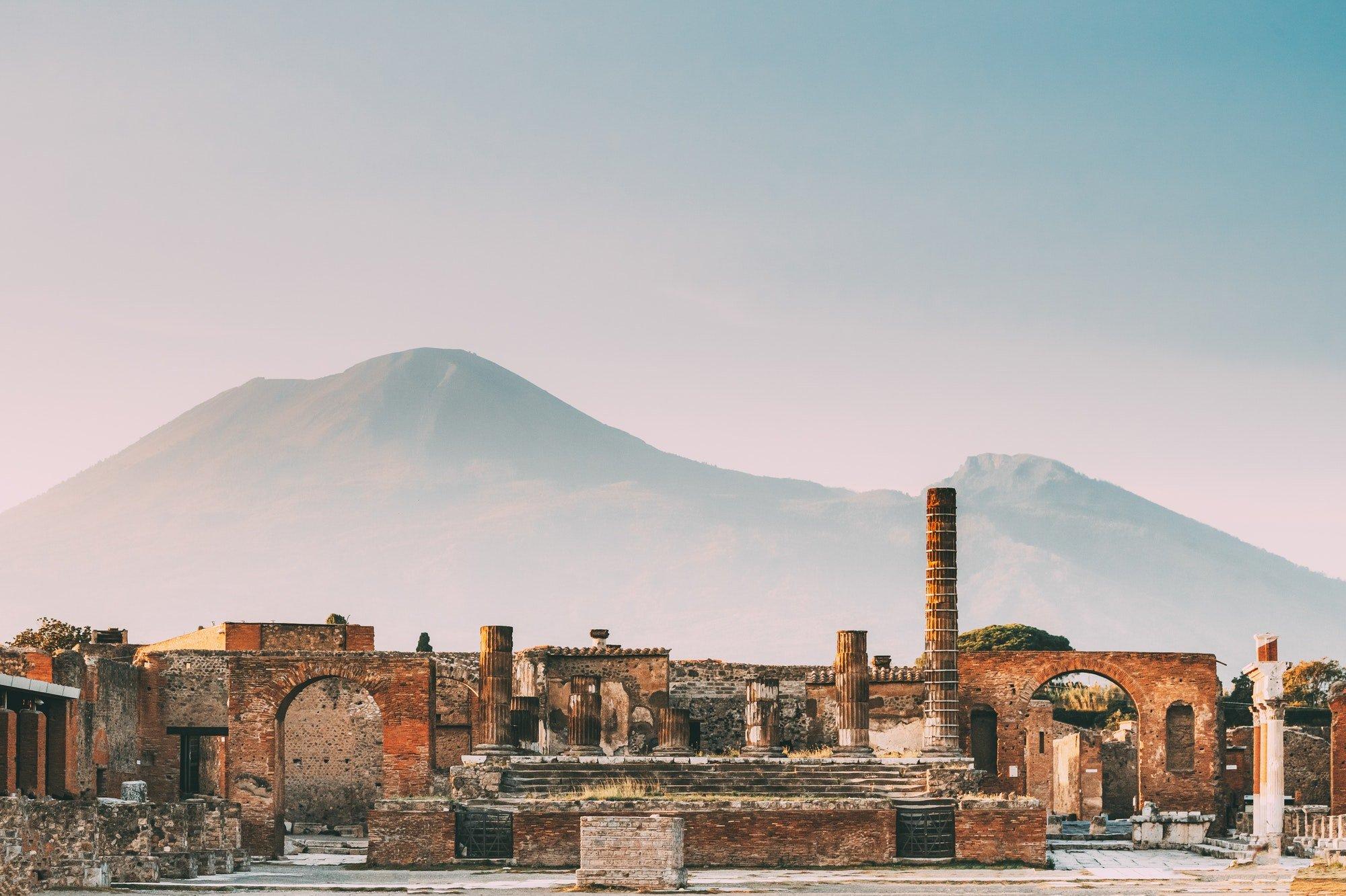 Pompeii, Italy. Temple Of Jupiter Or Capitolium Or Temple Of Cap