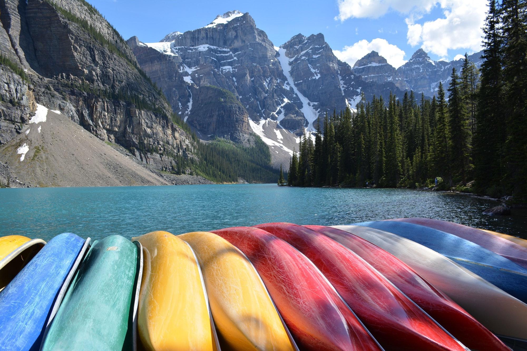 Lake Moraine, Banff National Park, Canada.